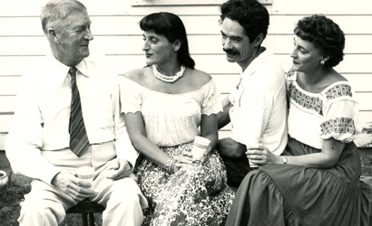 Phil Fitzpatrick, Ethel Magafan, Bruce Currie, Cecile Forman. Photograph by Adrian Siegel. Courtesy of WAAM Archives.