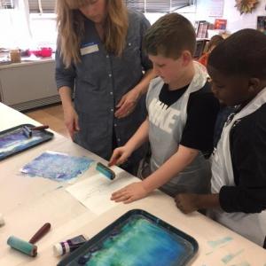 WAAM 2017 -4 Mo Beth helping Chris _ Camren Print