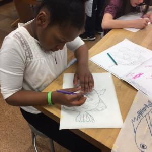 WAAM 2017 -4 Mo Jaylyn Drawing on Styrofoam