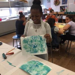 WAAM 2017 - 4 Mo Jaylyn Holding Fish Print 2