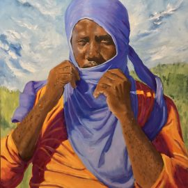 """Abraham, 24"""" x 30,"""" oil and brushes on canvas"""