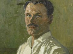 Amanda Bogatka on Carl Olof Eric Lindin's Self Portrait